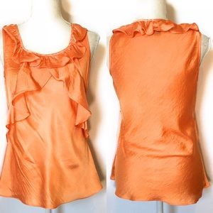 Spense sleeveless blouse, orange, Sz Small